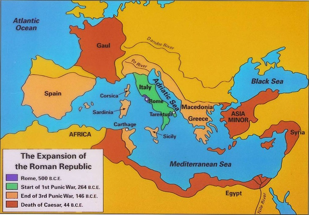 Rome in the 1st Century bce - Julius Caesar, Consul and Conqueror Carthage Rome Map on
